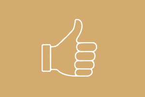 Animated thumbs up icon