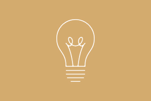 Animated light bulb icon