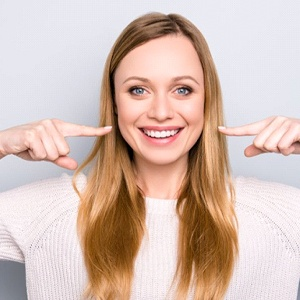 Woman fitting ClearCorrect aligners