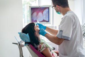dentist in Palm Bay using intraoral camera